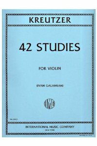Kreutzer, Rodolphe - 42 Studies - Violin solo - edited by Ivan Galamian - International Music Co